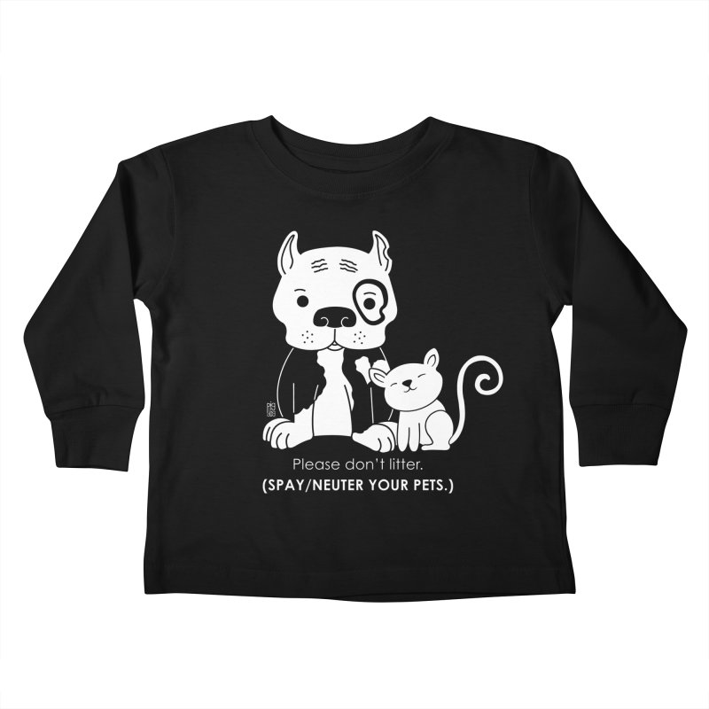 Don't Litter Kids Toddler Longsleeve T-Shirt by Pigdog
