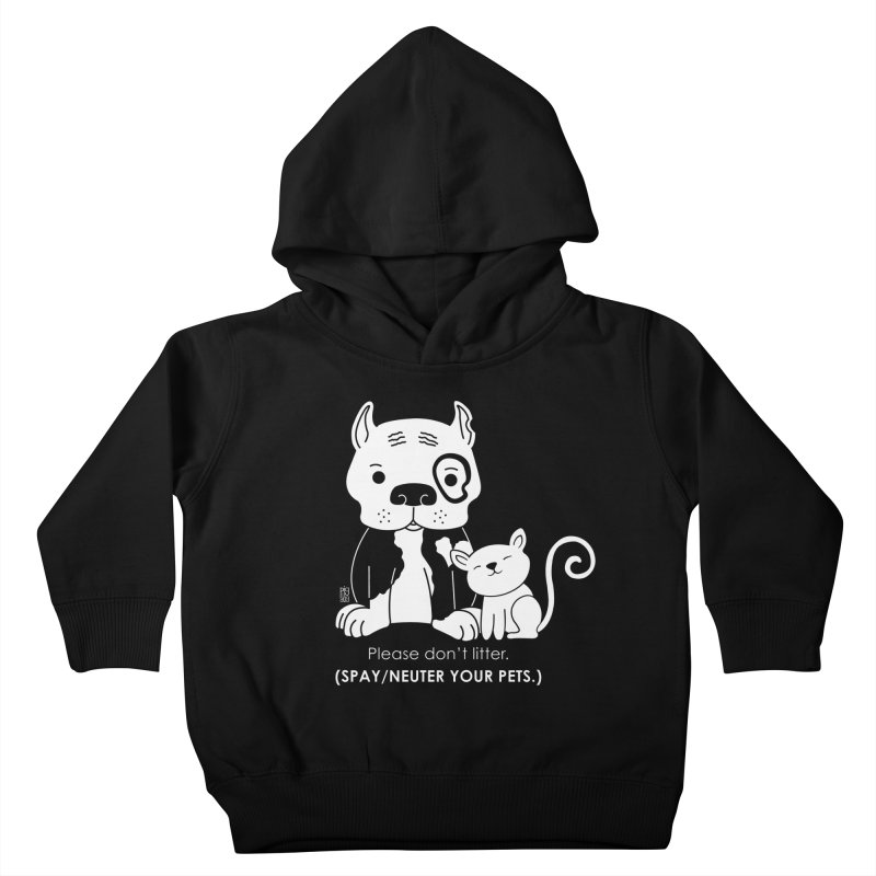 Don't Litter Kids Toddler Pullover Hoody by Pigdog