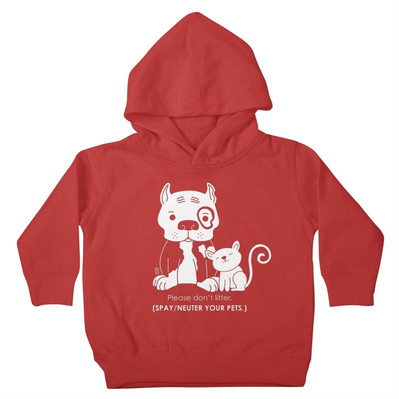 Don't Litter Kids Toddler Pullover Hoody by Pigdog