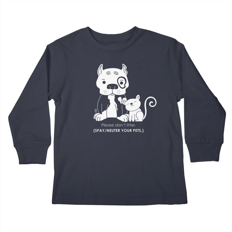 Don't Litter Kids Longsleeve T-Shirt by Pigdog