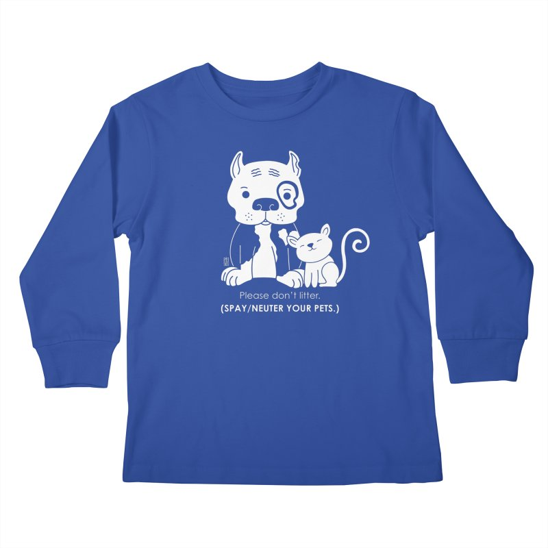 Don't Litter Kids Longsleeve T-Shirt by Pigdog