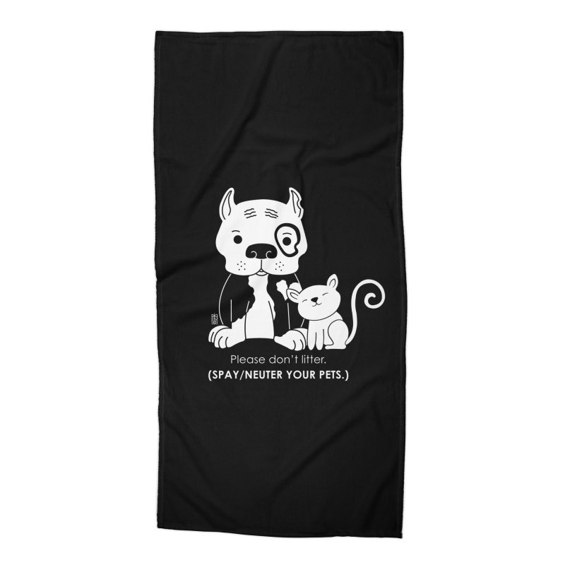 Don't Litter Accessories Beach Towel by Pigdog