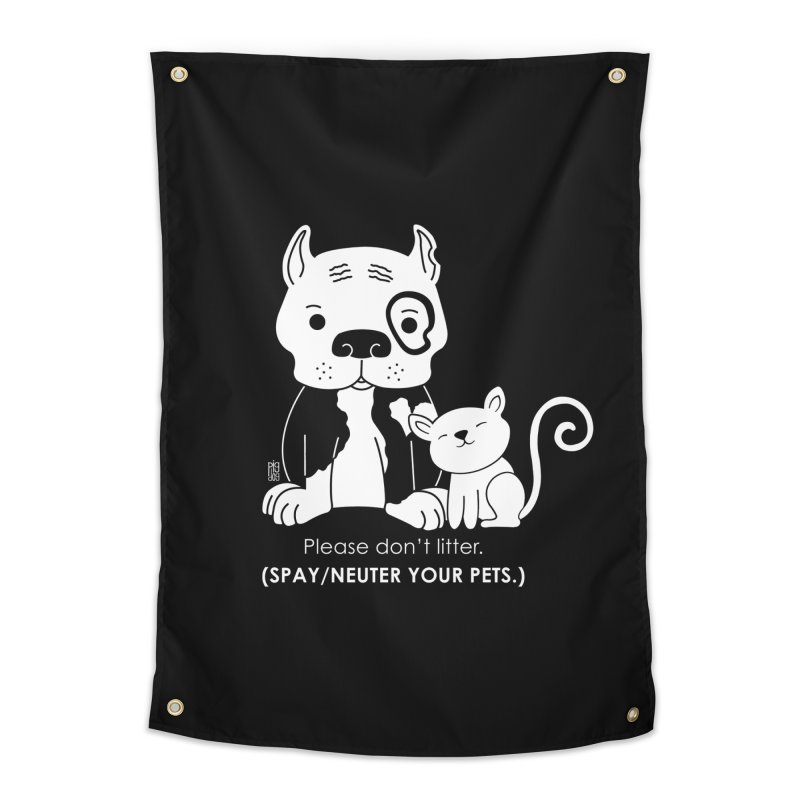Don't Litter Home Tapestry by Pigdog