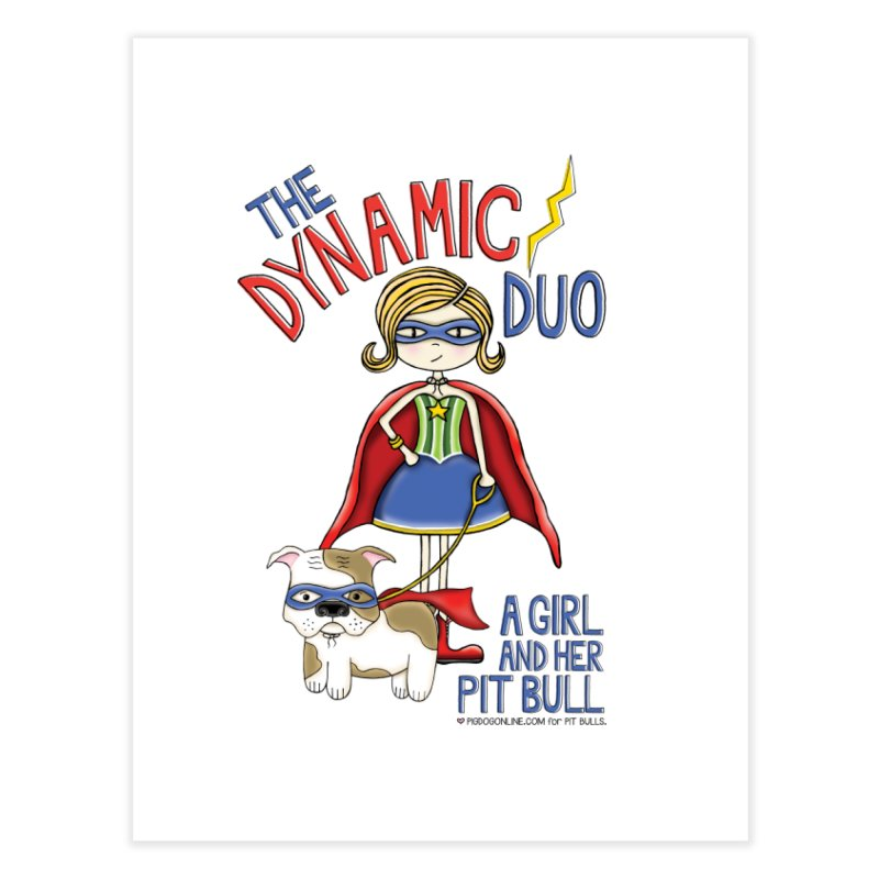 Dynamic Duo Home Fine Art Print by Pigdog