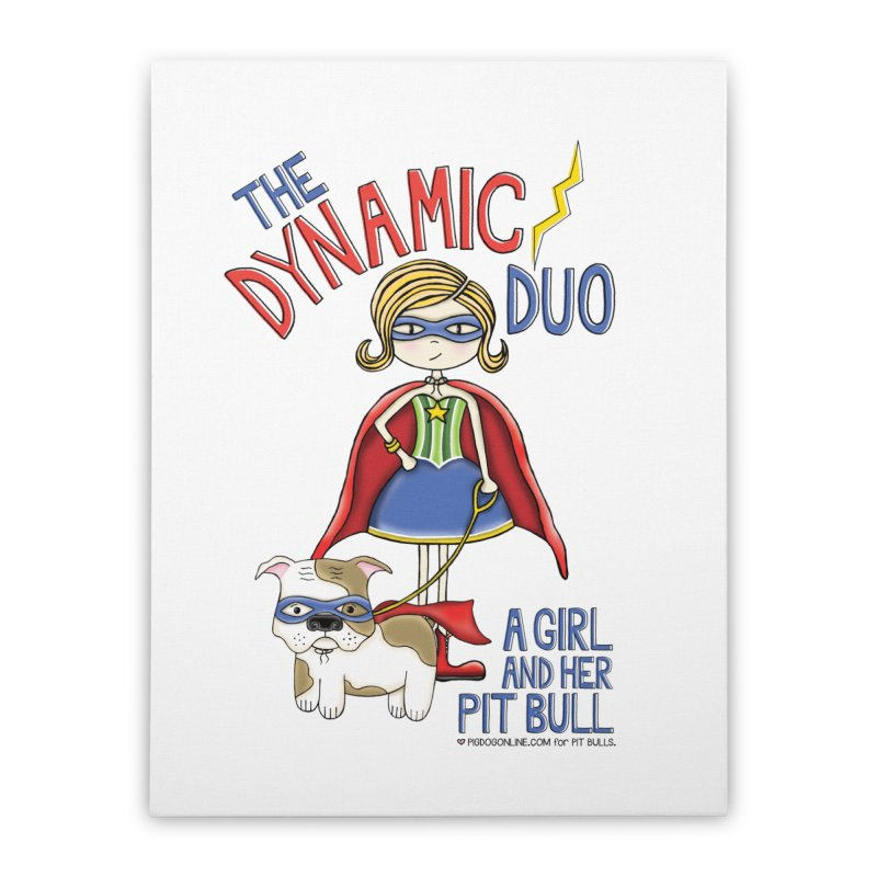 Dynamic Duo Home Stretched Canvas by Pigdog