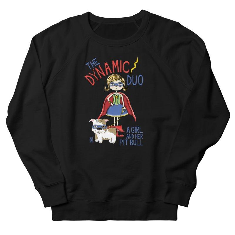 Dynamic Duo Women's French Terry Sweatshirt by Pigdog