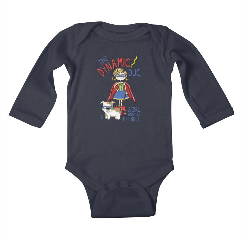 Dynamic Duo Kids Baby Longsleeve Bodysuit by Pigdog
