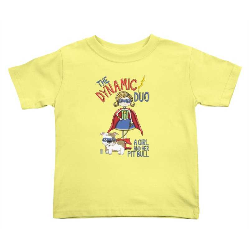 Dynamic Duo Kids Toddler T-Shirt by Pigdog
