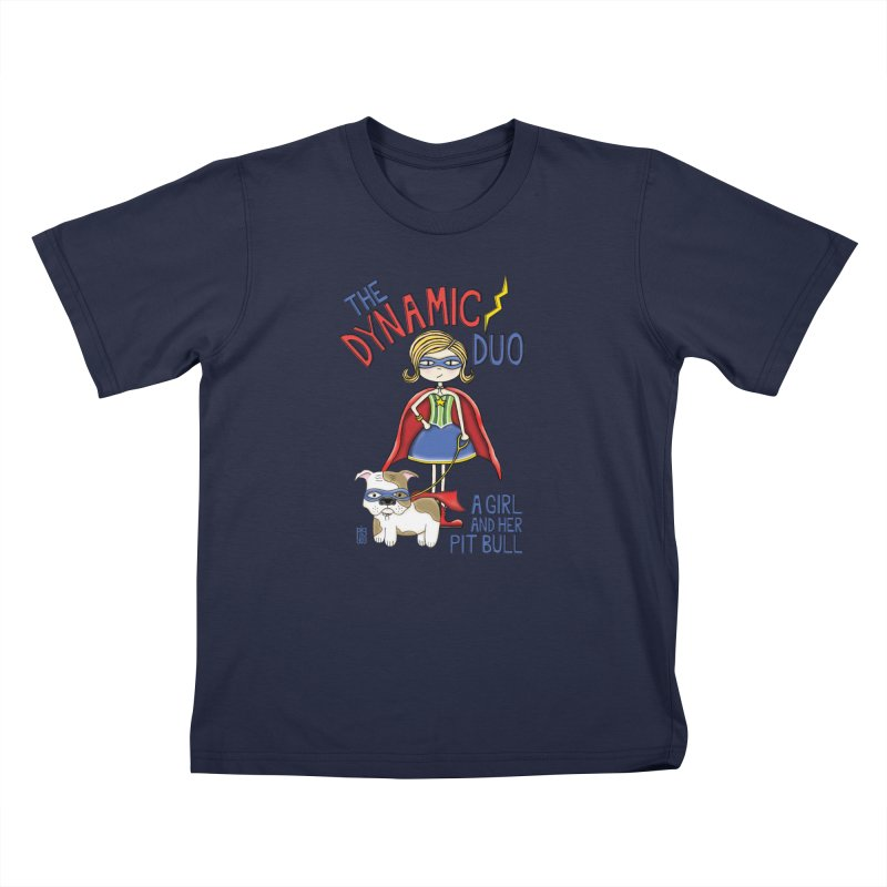 Dynamic Duo Kids T-Shirt by Pigdog