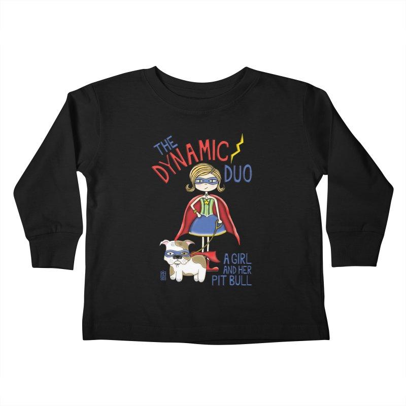 Dynamic Duo Kids Toddler Longsleeve T-Shirt by Pigdog