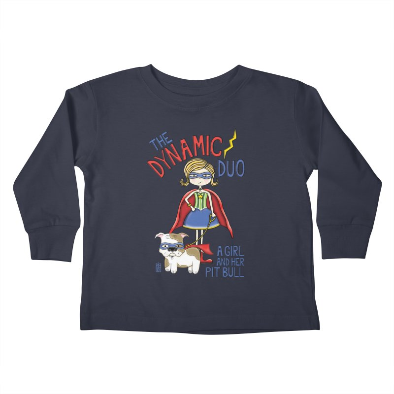Dynamic Duo Kids Toddler Longsleeve T-Shirt by Pigdog