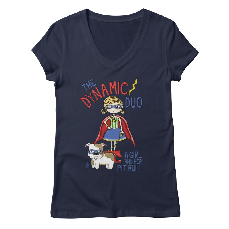 Dynamic Duo Women's Regular V-Neck by Pigdog