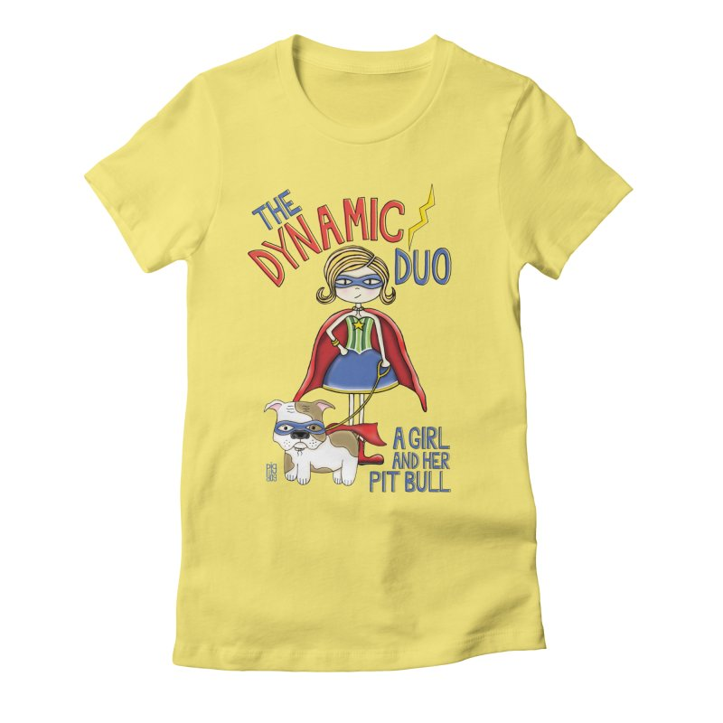 Dynamic Duo Women's Fitted T-Shirt by Pigdog