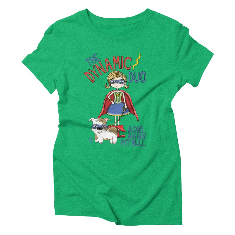 Dynamic Duo Women's Triblend T-Shirt by Pigdog