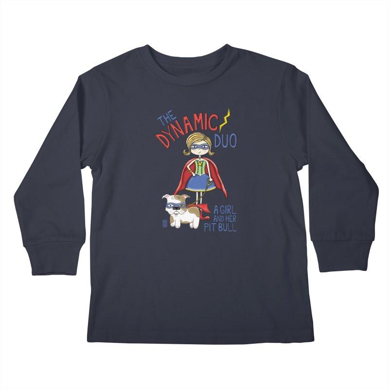 Dynamic Duo Kids Longsleeve T-Shirt by Pigdog
