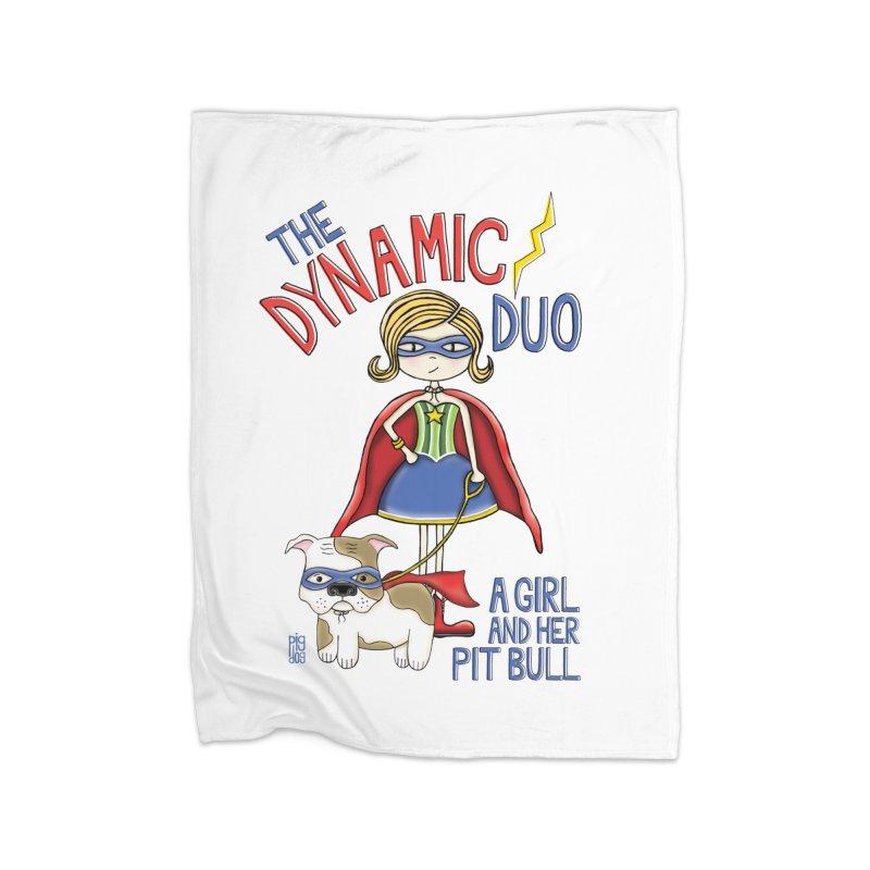 Dynamic Duo Home Blanket by Pigdog