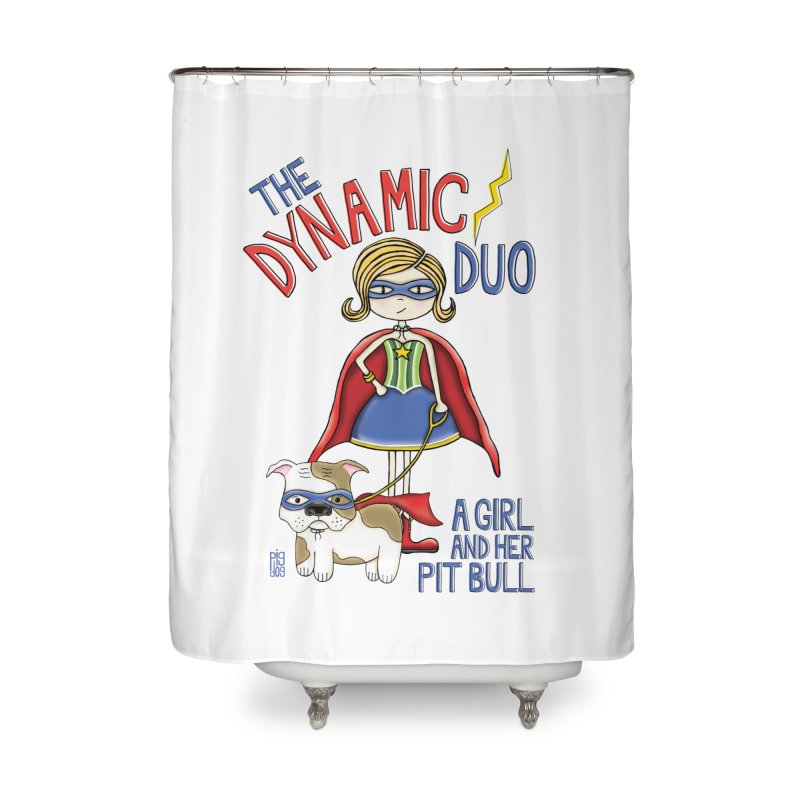 Dynamic Duo Home Shower Curtain by Pigdog