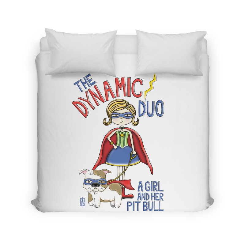 Dynamic Duo Home Duvet by Pigdog