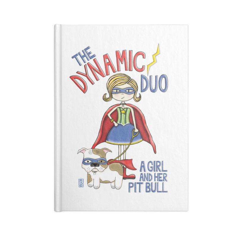 Dynamic Duo Accessories Blank Journal Notebook by Pigdog