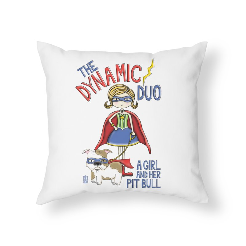 Dynamic Duo Home Throw Pillow by Pigdog