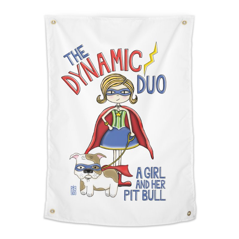 Dynamic Duo Home Tapestry by Pigdog