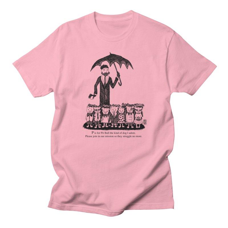 Gorey Homage Men's Regular T-Shirt by Pigdog