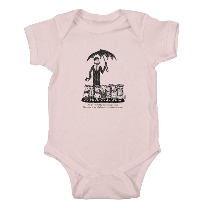 Gorey Homage Kids Baby Bodysuit by Pigdog