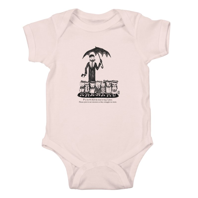 Gorey Homage Kids Baby Bodysuit by Pigdog