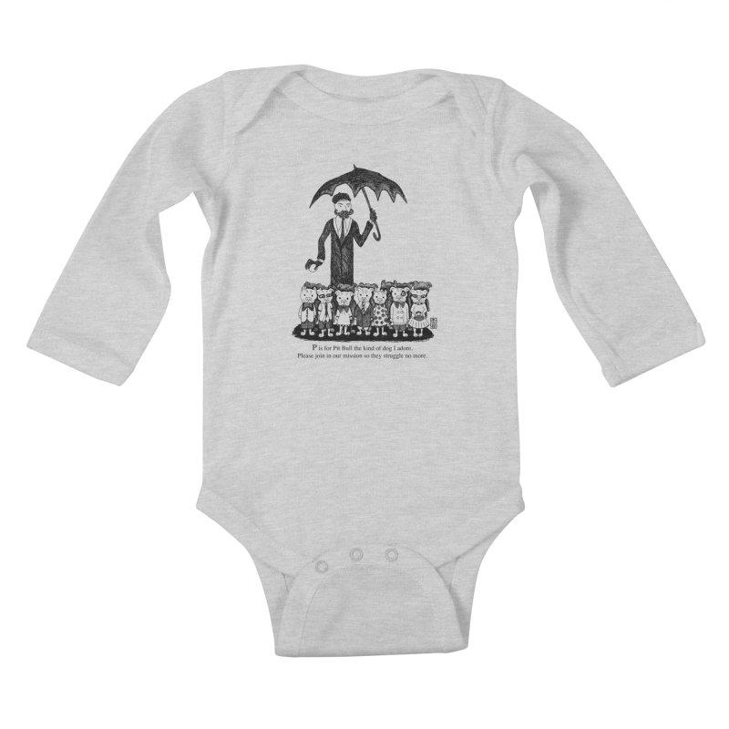 Gorey Homage Kids Baby Longsleeve Bodysuit by Pigdog