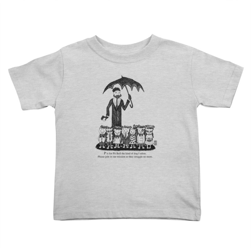 Gorey Homage Kids Toddler T-Shirt by Pigdog