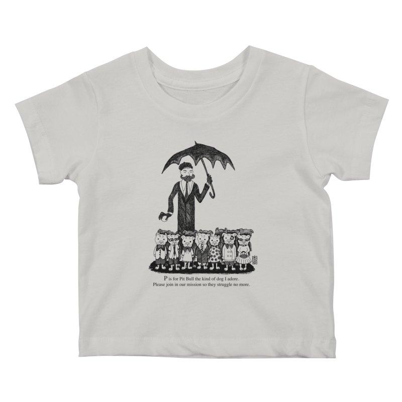Gorey Homage Kids Baby T-Shirt by Pigdog