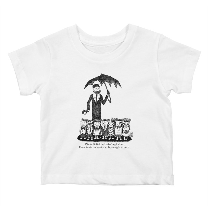Gorey Homage Kids Baby T-Shirt by Pigdog
