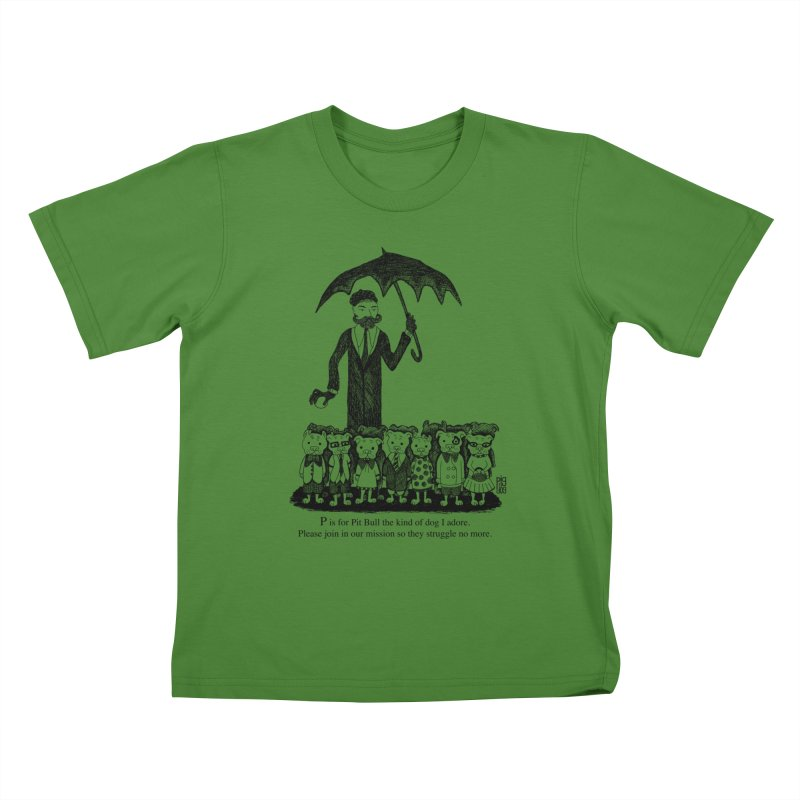 Gorey Homage Kids T-Shirt by Pigdog