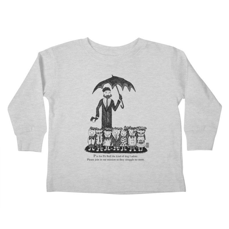 Gorey Homage Kids Toddler Longsleeve T-Shirt by Pigdog