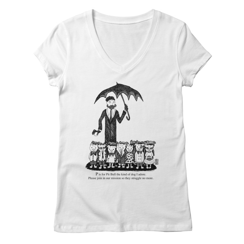 Gorey Homage Women's Regular V-Neck by Pigdog