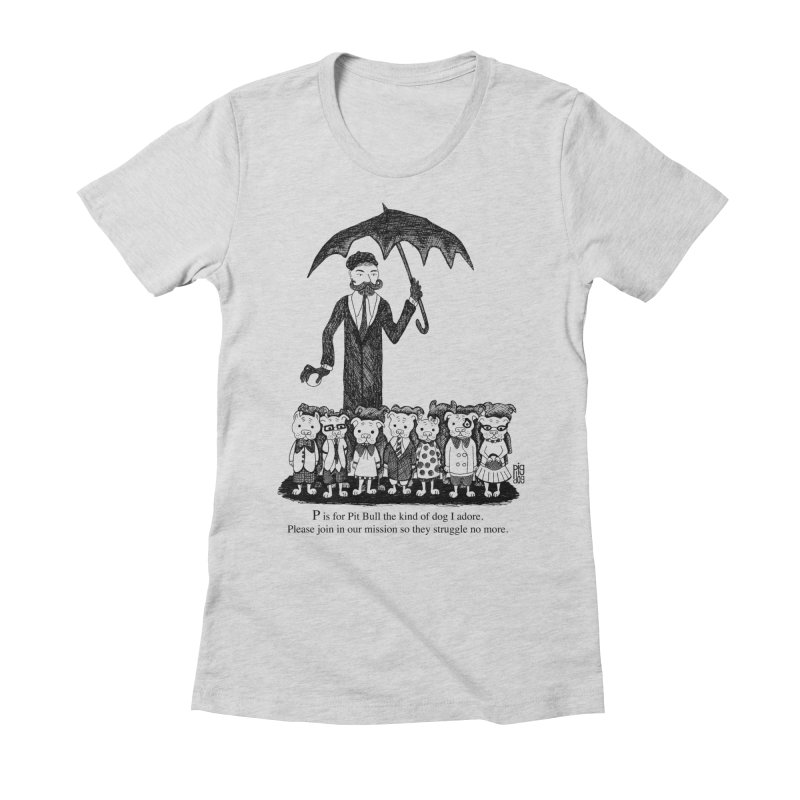 Gorey Homage Women's Fitted T-Shirt by Pigdog