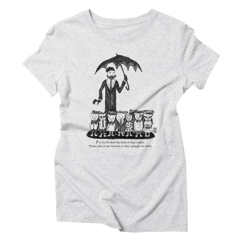 Gorey Homage Women's Triblend T-Shirt by Pigdog