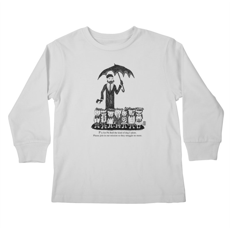 Gorey Homage Kids Longsleeve T-Shirt by Pigdog