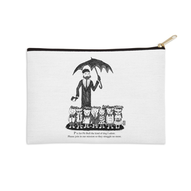 Gorey Homage Accessories Zip Pouch by Pigdog