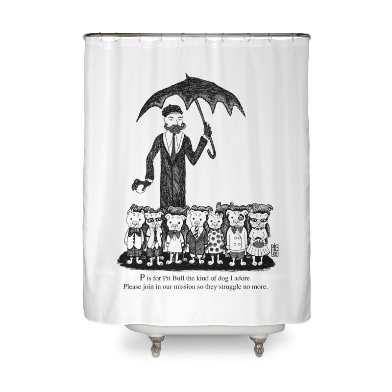 Gorey Homage Home Shower Curtain by Pigdog