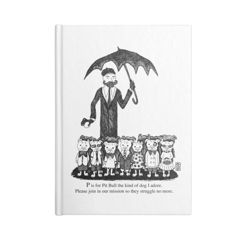 Gorey Homage Accessories Blank Journal Notebook by Pigdog