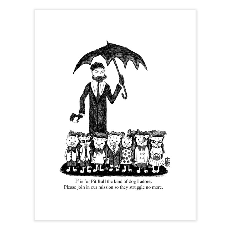 Gorey Homage Home Fine Art Print by Pigdog