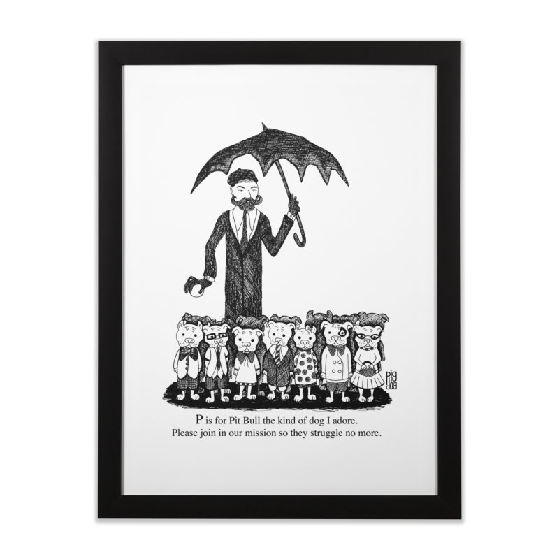 Gorey Homage Home Framed Fine Art Print by Pigdog