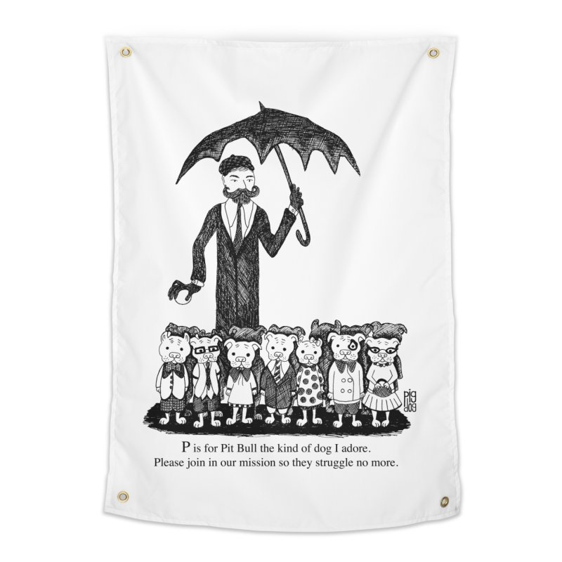 Gorey Homage Home Tapestry by Pigdog