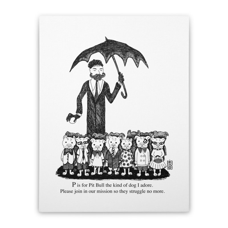 Gorey Homage Home Stretched Canvas by Pigdog