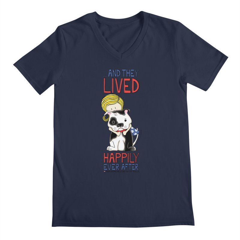 Happily Ever After Men's Regular V-Neck by Pigdog