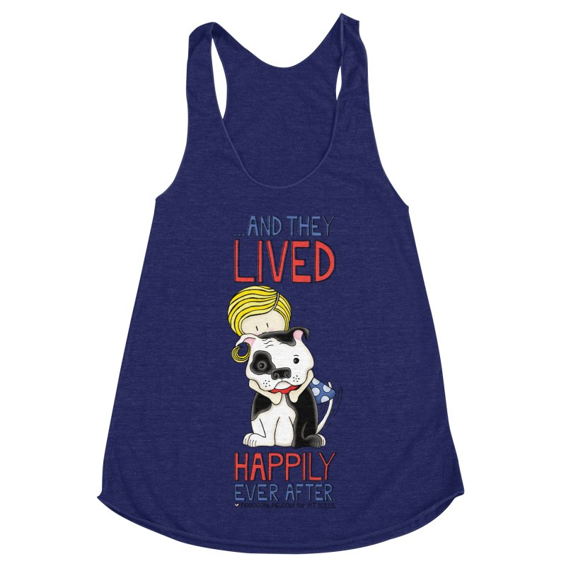 Happily Ever After Women's Racerback Triblend Tank by Pigdog