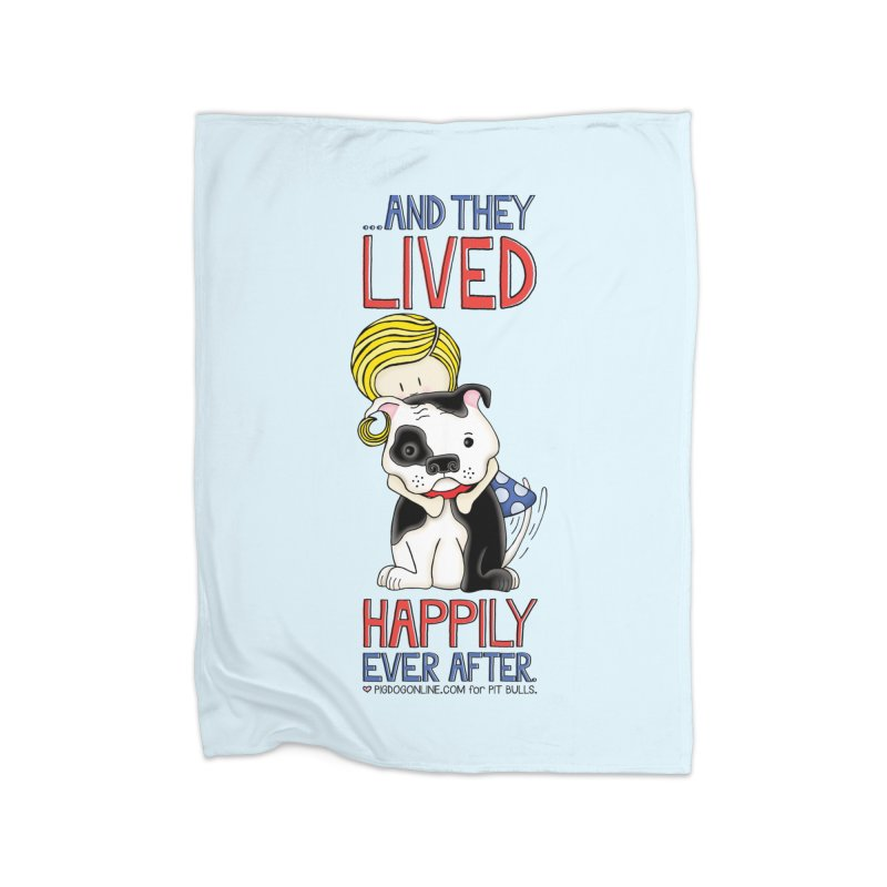 Happily Ever After Home Fleece Blanket Blanket by Pigdog