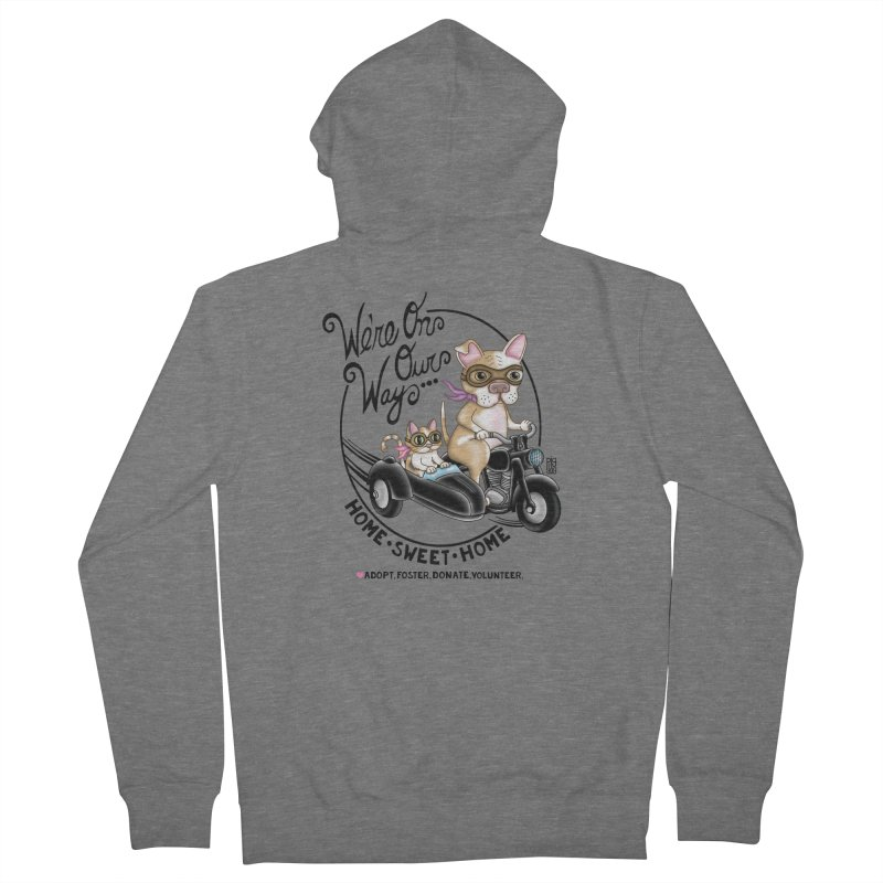 Home Sweet Home Women's French Terry Zip-Up Hoody by Pigdog