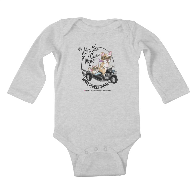 Home Sweet Home Kids Baby Longsleeve Bodysuit by Pigdog